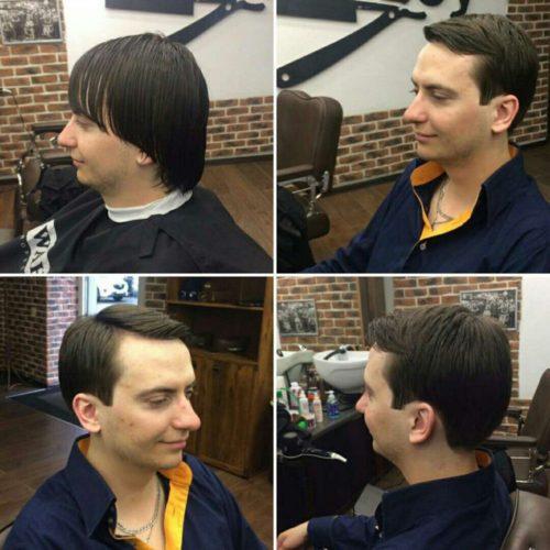 До после в мужской парикмахерской Гомель